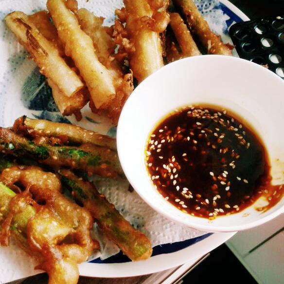 tempura van asperge